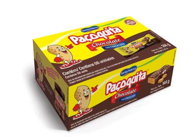 Doce de amendoim com cobertura de chocolate